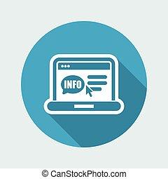 Website info icon
