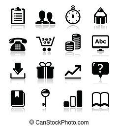 Website internet icons set - vector