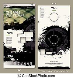 website, kézírás, oldal, sablon, egy