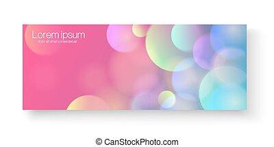 website, kleurrijke, banner., abstract, helder, headers, bokeh, vector, achtergrond., mal, geometrisch dundoek, of
