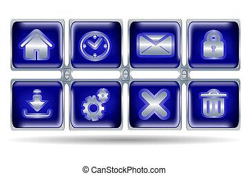 website, knap, iconerne