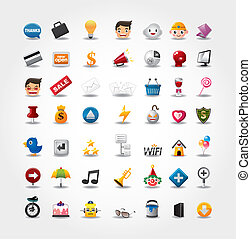 website, komplet, &, ikony, ikony, ikony, internet