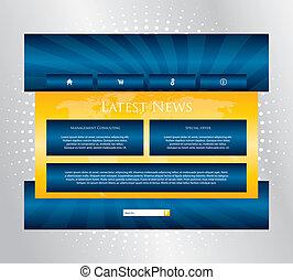 website, konstruktion, editable, specielle, skabelon