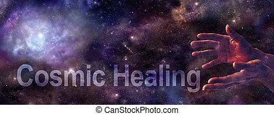 website, kosmiczny, chorągiew, gojenie