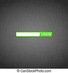 website, login, vorm