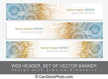 website, mønster, abstrakt, header, teknologiske, banner, ...