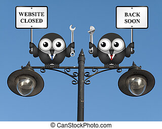 Website maintenance - Comical website maintenance closed...