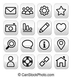 Website menu, internet buttons