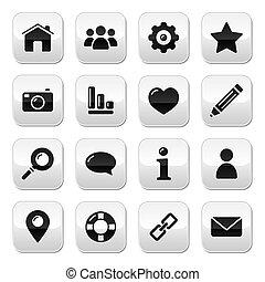 Website menu navigation buttons - h