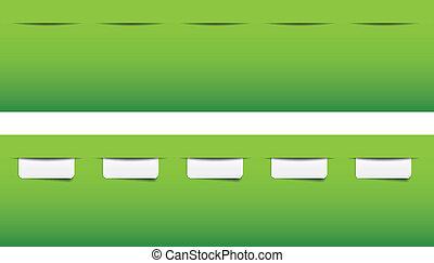 website, menu, tabs, voorbeelden