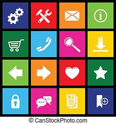 website, metro, iconen