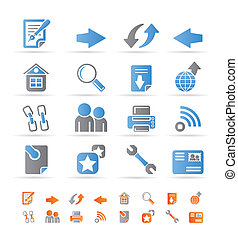 Website navigation and computer icons - vector icon set