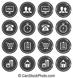 Website navigation icons retro