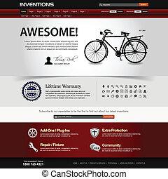 website, netz- design, schablone, element