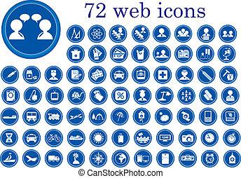 website, og, ikoner internet