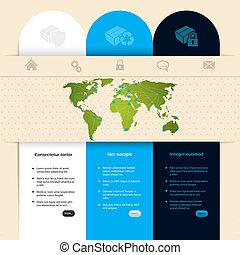 website, ontwerp, mal, etiket