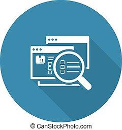 Website Optimization Icon. Flat Design.