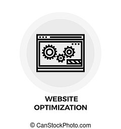 Website Optimization Line Icon