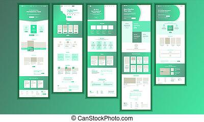 Website Page . Business Website. Web Page. Landing Design Site Scheme Template. Product Testimonial. Company Concept. Creativity Goal. Illustration