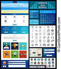 Website page template. Web design