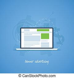 Website pay per click banner advertising vector concept