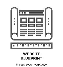 website, plan, kreska, ikona