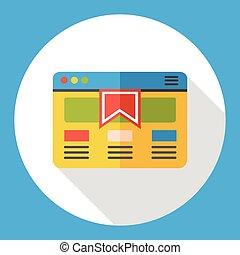 website, plat, internetten ikoon