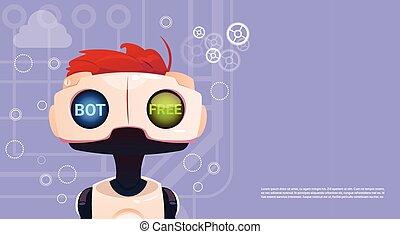 website, pojęcie, bot, ruchomy, inteligencja, pomoc, robot, ...