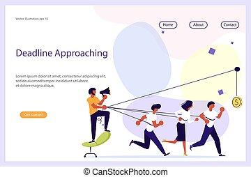 website, praca, lider, handlowy zaprzęg