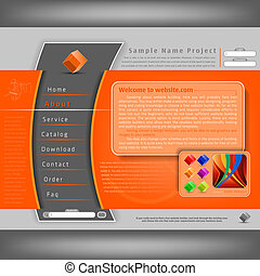 website, projektować, szablon