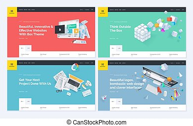 website, projekty, komplet, szablon