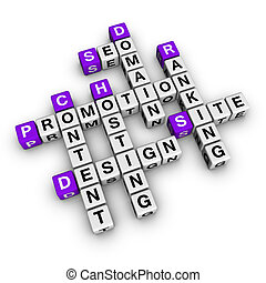 website promotion (blue-white cubes crossword series)