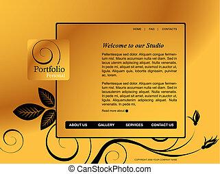 website, schablone