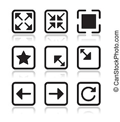 Website screen icons set - full