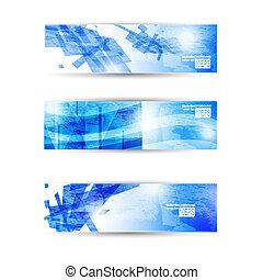 website, set, zakelijk, abstract, moderne, header, flyer, spandoek, of