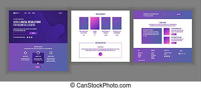 website, sieć, page., handlowy, goal., donation., gadżet, strona, ilustracja, template., ruchomy, website., projektować, lądowanie, virtual., osiągnąć, optimized.
