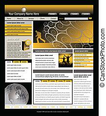 website, skabelon, vektor