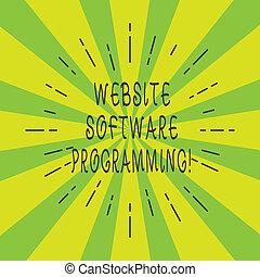 website, software, concept, toon, programmering, coderen, verbreiding, programming., lijnen, twee, balk, betekenis, mager, photo., tekst, ontploffing, handschrift, enables, zonnestraal, of, uit