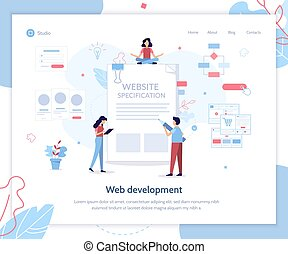 Website specification web banner - Landing page template....