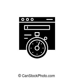 Website speed black icon, vector sign on isolated...