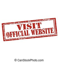 website-stamp, 官員, 訪問