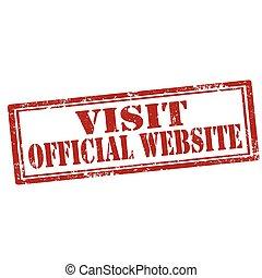 website-stamp, officieel, bezoek