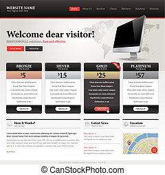website, szablon, projektować