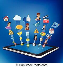 website, tablet, internet
