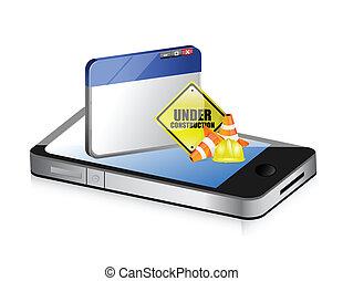 website, telefon, baugewerbe, unter, zeichen