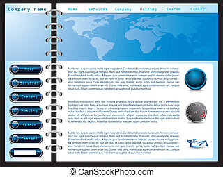 Website template 13 - Website template design with notepad...
