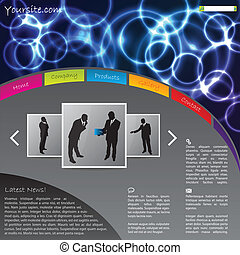 Website template design with plasma effect