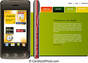 Website Template, easy to use in adobe Photoshop, Flash or ...