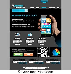 Website template for corporate business and cloud purposes....