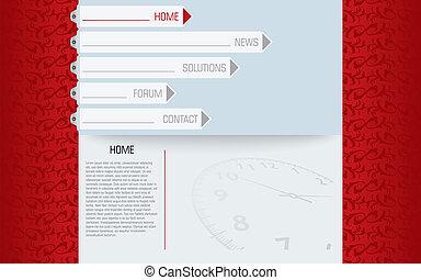 website template in editable vector